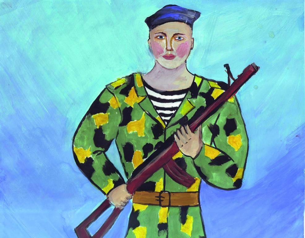 Дети военные картинки рисунки