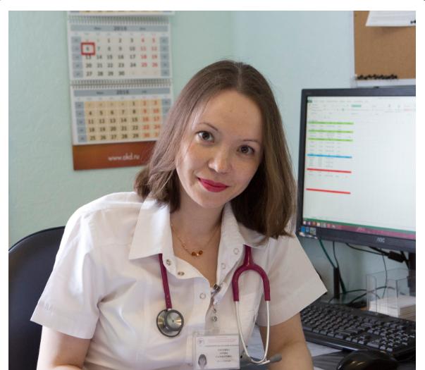 фото девушки на работе врача