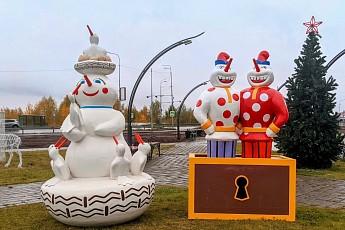 В Ханты-Мансийске лучшие работы с конкурса снеговиков сделали нетающими